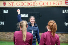 Girl cricketers receive masterclass from an England great