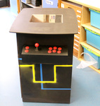 Rustic coffee tables and a retro gaming table created in Resistant Materials practicals