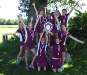 Under 11 girls' rounders team triumphant at Hawthorns Tournament