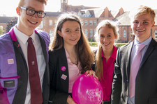 Sixth Form students go pink for cancer awareness month