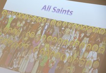 Year 5 help celebrate 'All Saints' Feast Day