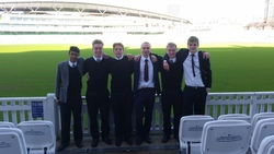 College cricketers visit The Oval