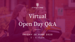 Virtual Open Day - Friday 26 June 2020, 3-4.15pm