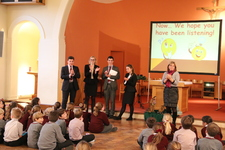 Sixth Form students share knowledge about our founder
