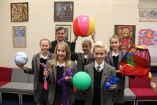 Fantastic sports equipment collection for our sister schools in the Congo