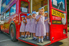 All aboard: fascinating double decker bus visit for Nursery children