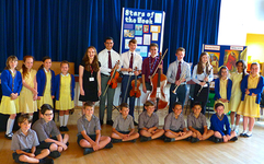 College students visit local school on music outreach project