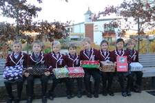 Children collect for Operation Christmas Child Shoebox Appeal