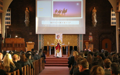 Start of term Mass celebrated by St George's College students